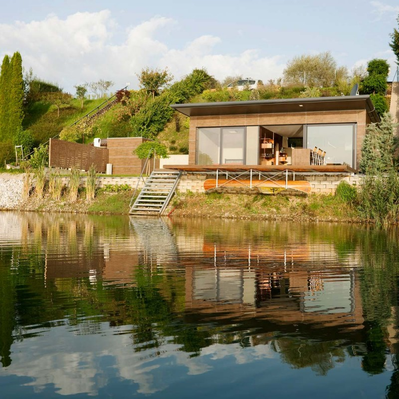 Lake house in graz clear intentions modern cabins for Building a small lake
