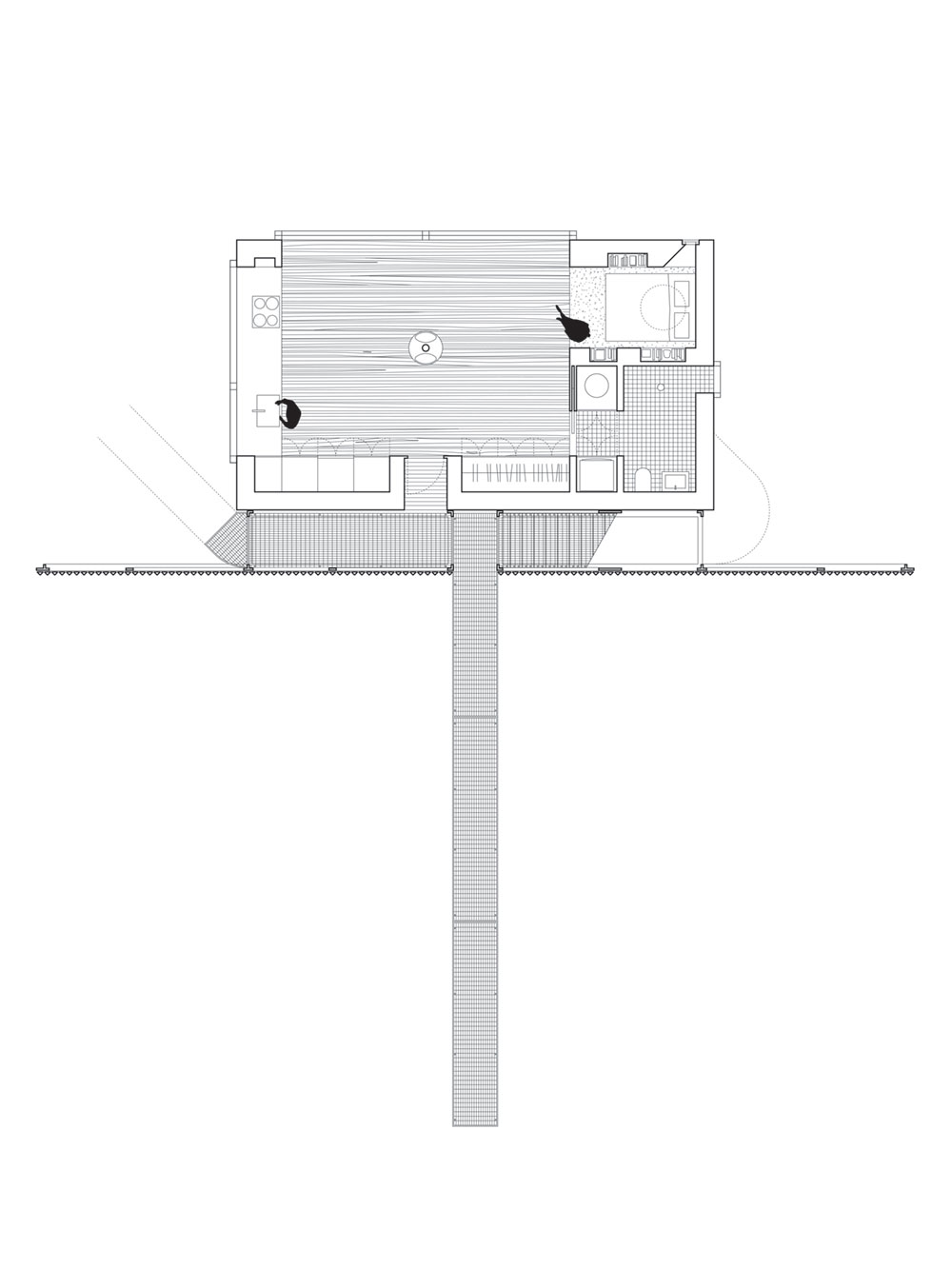small modern cabin plan wojr - Mask House