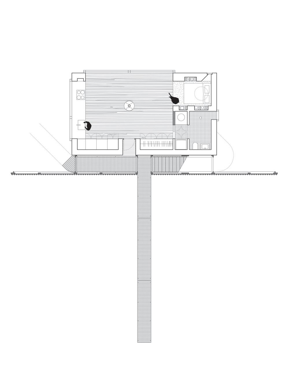 small modern cabin plan wojr - Mask House