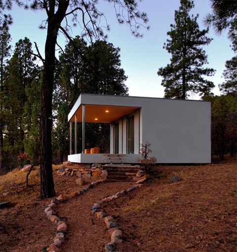 Williams cabin a glacial valley view modern cabins for Small modern homes for sale