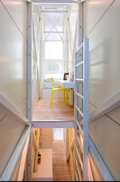 Keret house wild idea brought to reality small houses - Narrow house interior design ...