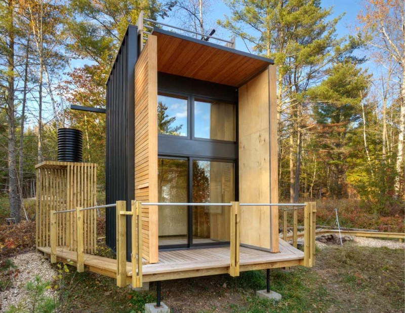 Tiny off the grid weekend cabin with views of lake superior Small lake cabin plans