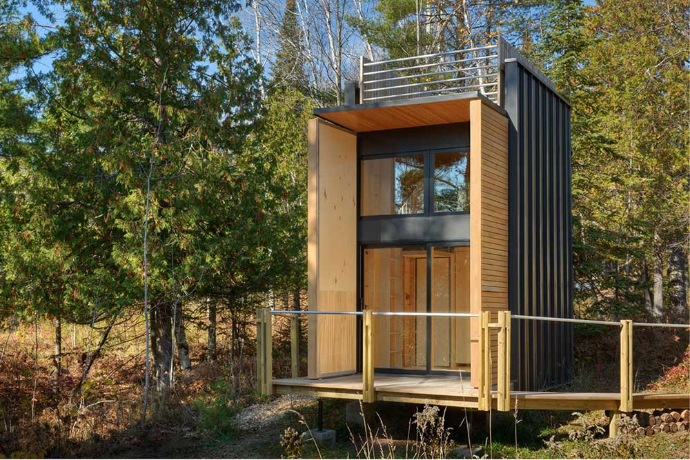 tiny off the grid weekend cabin with views of lake superior