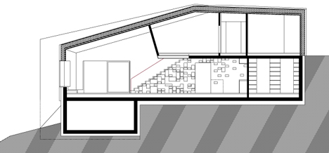 small plot house y2 plan 03 - House y2:  conjoined twin architecture