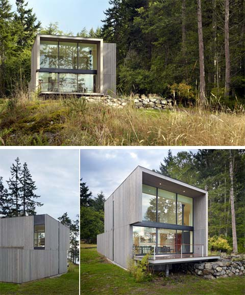 Doe bay cabin prefab sips box prefab cabins small houses for Prefab sip homes