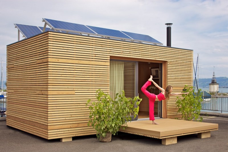 Freedomky model s prefab homes small spaces for Mobiler wohncontainer holz