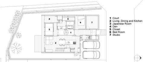small prefab home niu plan 1 - Niu House: an inhabitable prefab composition