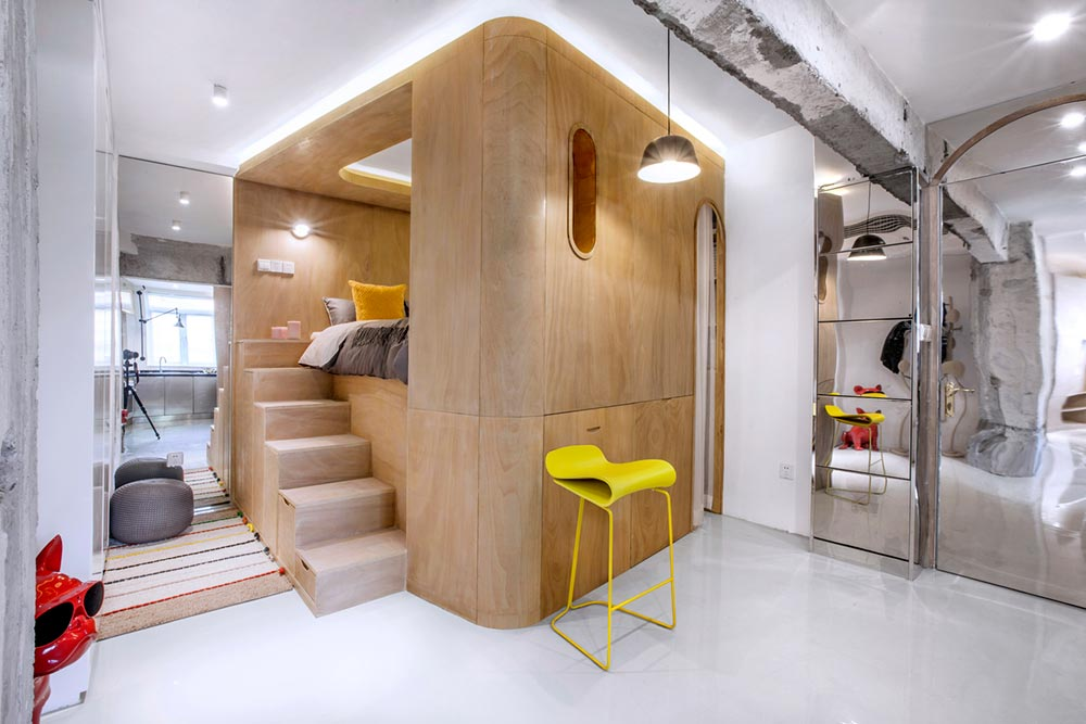 small space apartment design cube td - 10° home