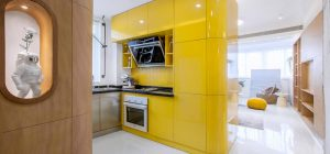 small space apartment design yellow kitchen td 300x140 - 10° home