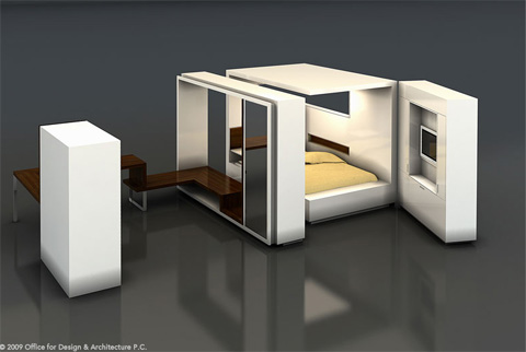 modular oda room furniture small spaces. Black Bedroom Furniture Sets. Home Design Ideas