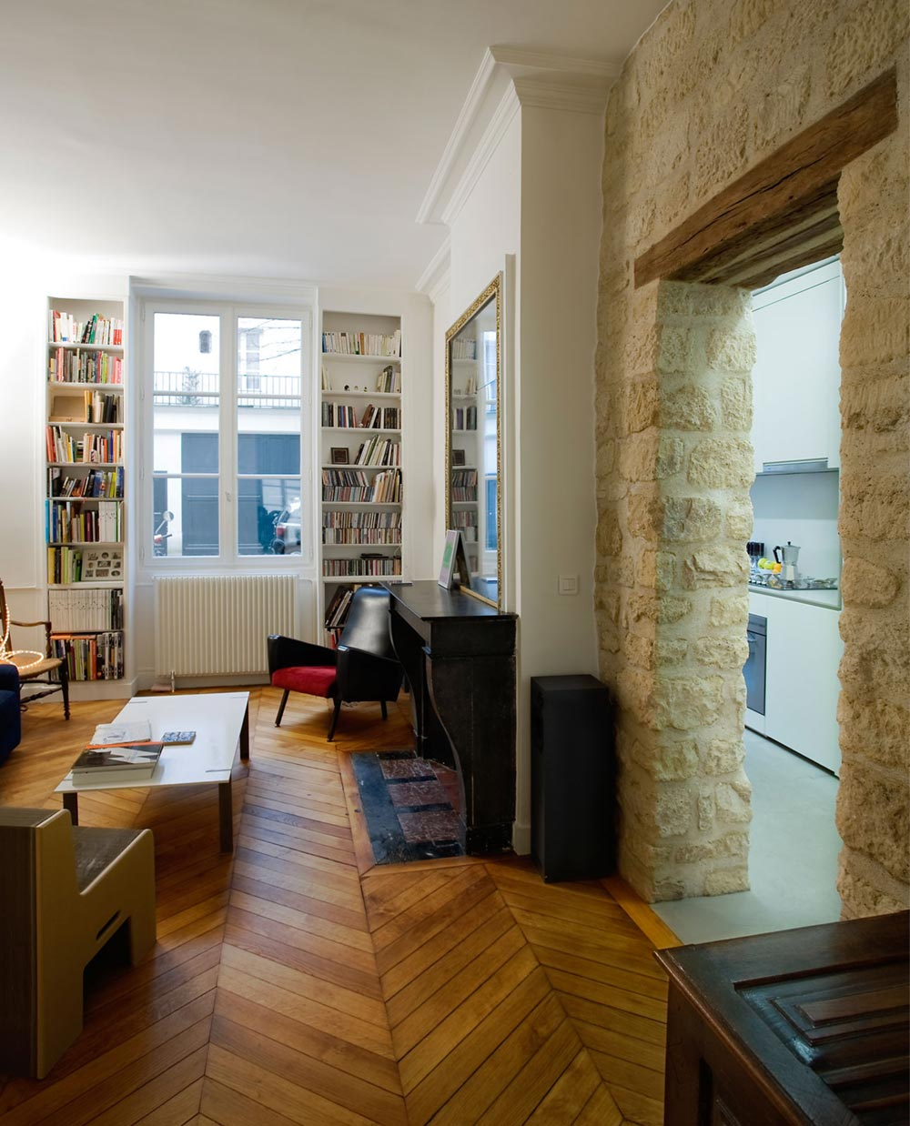 Cheapest Studio Apartments: Beautiful Studio Apartment In Paris W/ An Exposed Stone Wall