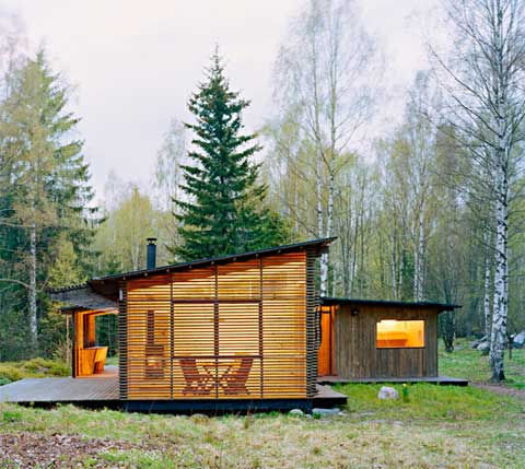 Small summer house in trosa modern cabins small houses - Small wood homes ...