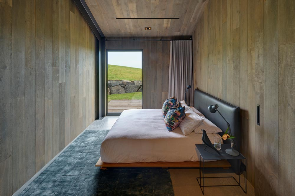 small sustainable house bedroom ac - Escarpment House