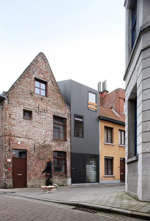 terraced house ghent stands in contrast small houses