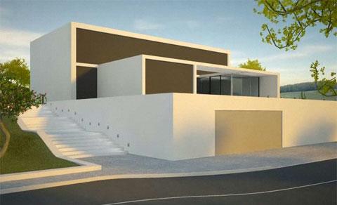 jung smart house modern architecture. Black Bedroom Furniture Sets. Home Design Ideas