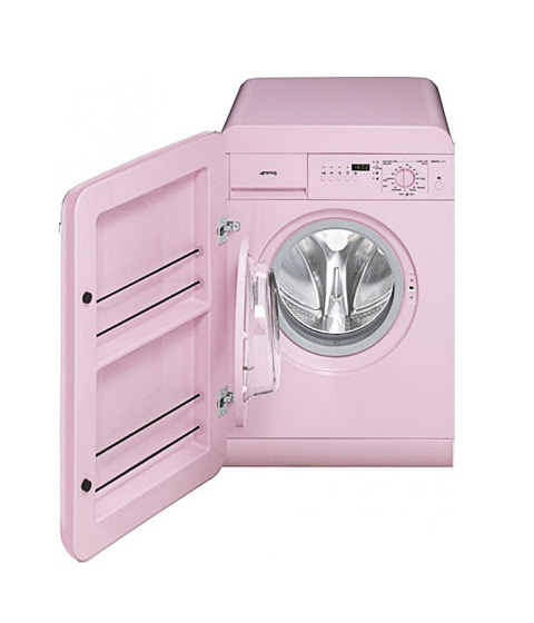 Smeg washing machine do your laundry in fab retro style appliances - Small space washing machines set ...