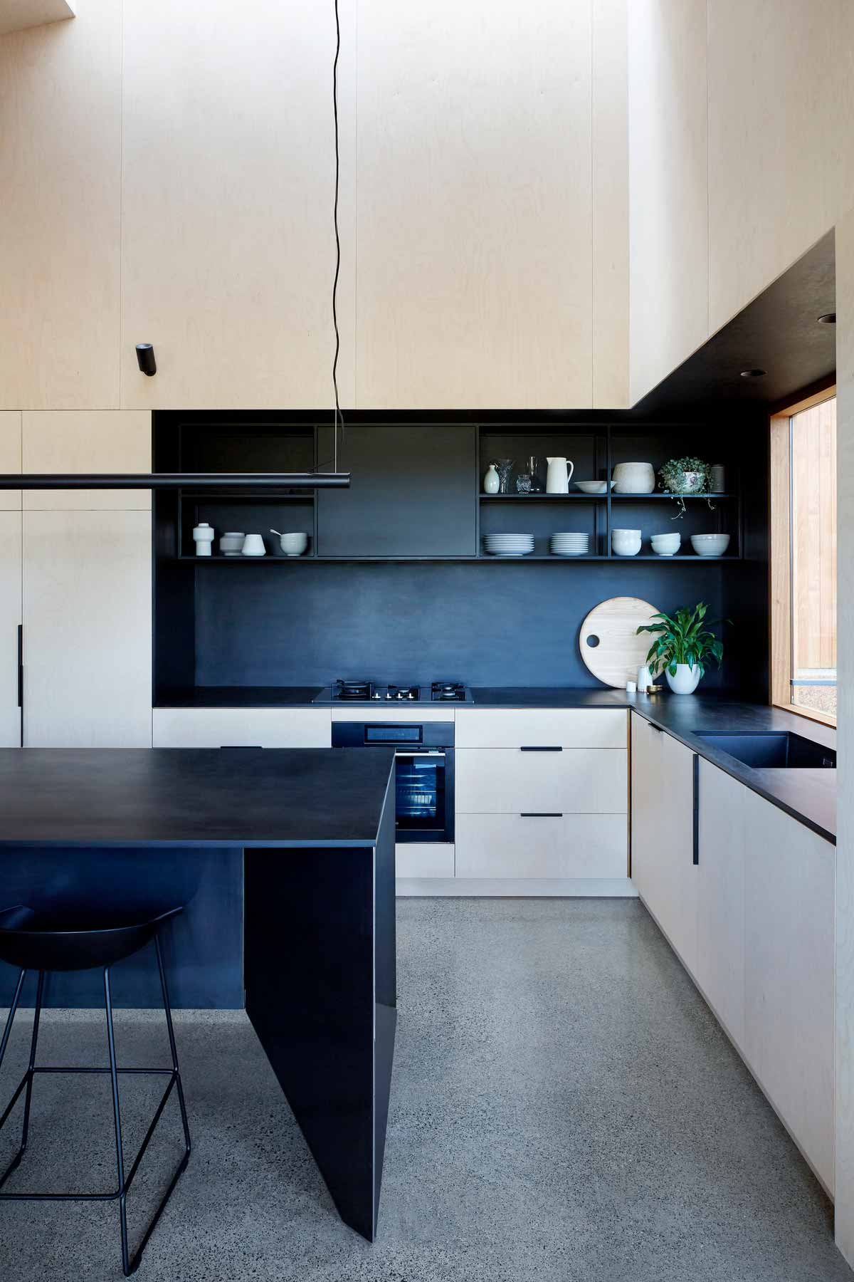 split space house kitchen design - Two Halves House