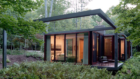 Dutchess County Residence A Black Steel Framed Guesthouse
