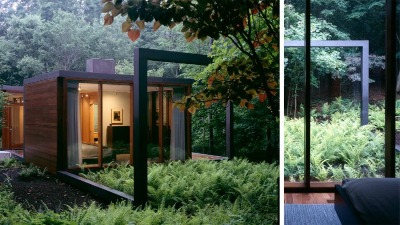 steel guesthouse dutchess aw71 800x451 - Dutchess County Residence: a black steel-framed guesthouse