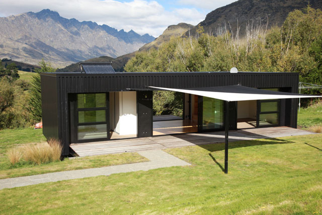 Interview bachbox prefab design construction news for Small home designs nz