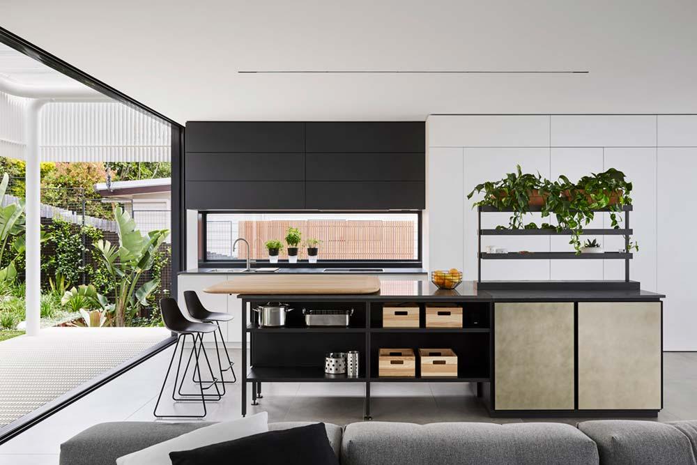 steep lot house design kitchen - Greenacres