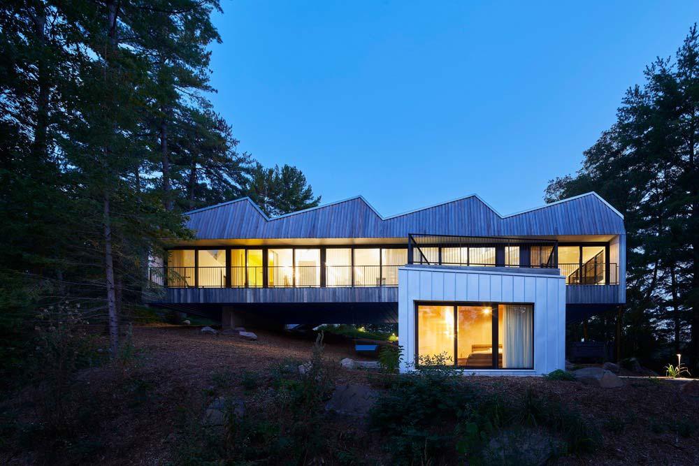 steep modern lake house - Sky House