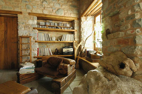 Holiday House in Greece: Dream Home of Stone - Beautiful Interiors