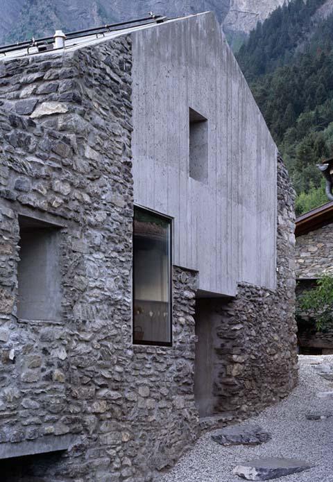 Roduit house renovation modern stonewalls modern for Zeb pilot house floor plan
