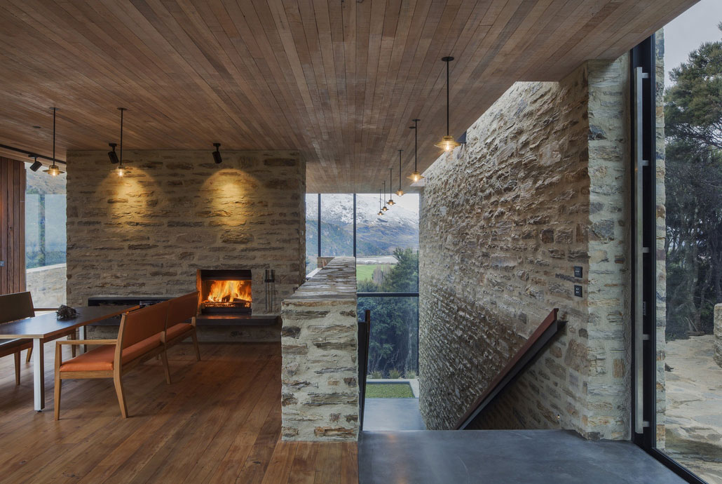 Perfect Wanaka House Modern With Stone And Wood House.