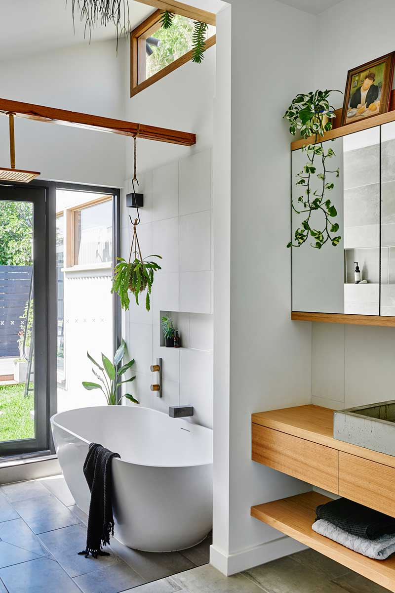 sustainable cottage bathroom design - Melbourne Vernacular