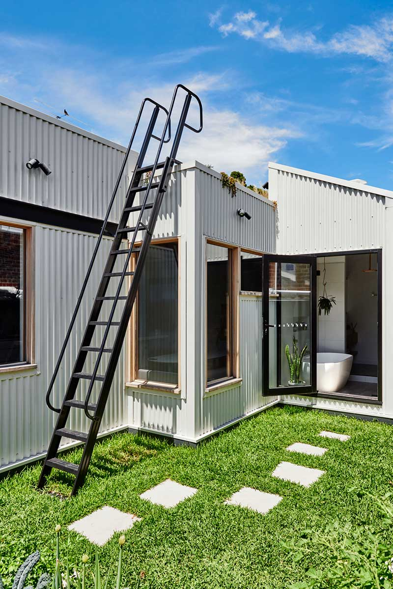 sustainable cottage roof ladder - Melbourne Vernacular