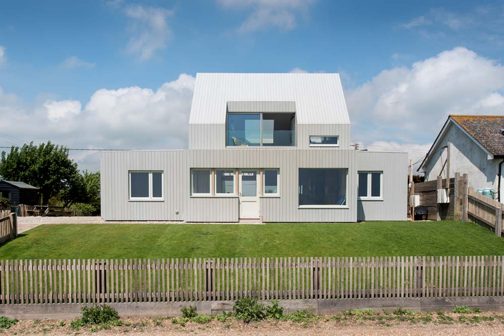 sustainable family home exterior - Chalfont Beach House
