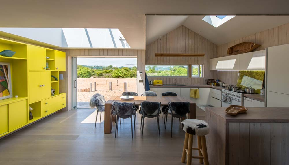 sustainable home kitchen skylight - Chalfont Beach House