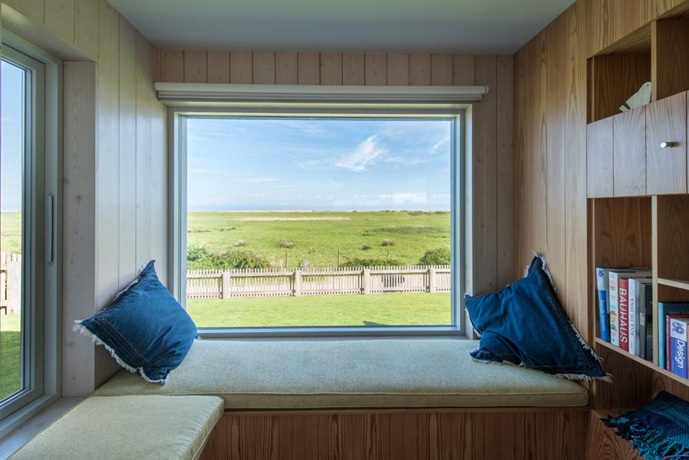 sustainable home window seat - Chalfont Beach House