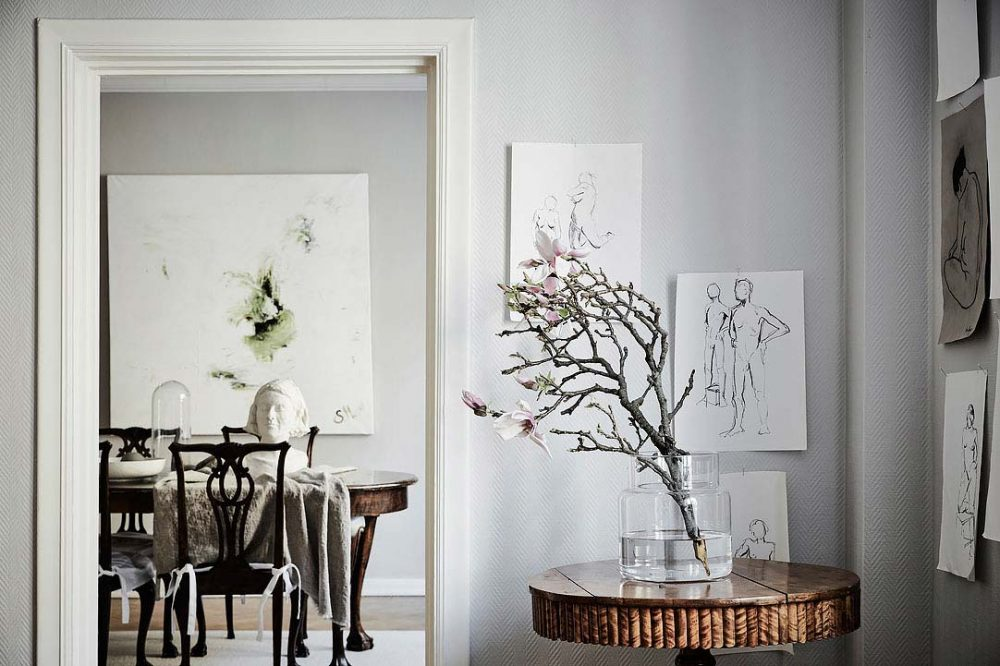 swedish apartment design 1000x666 - Charming 20th Century Apartment