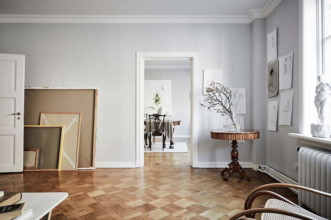 swedish apartment design 5 - Charming 20th Century Apartment