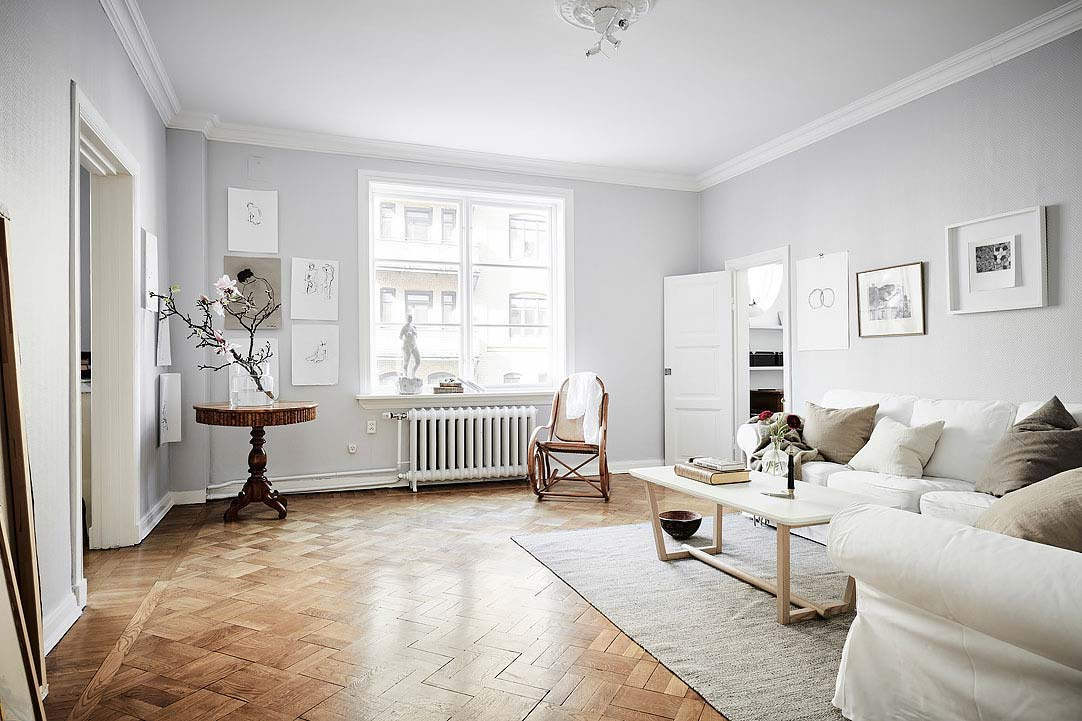 swedish apartment design 6 - Charming 20th Century Apartment