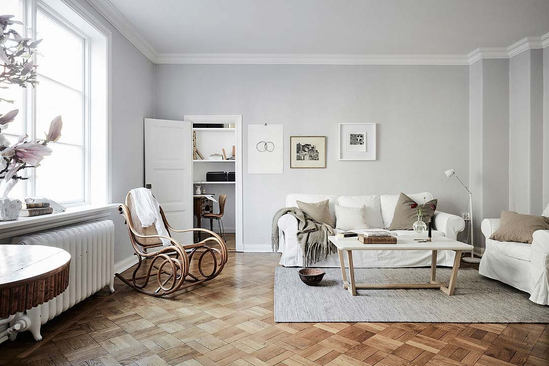 swedish apartment design 7 - Charming 20th Century Apartment