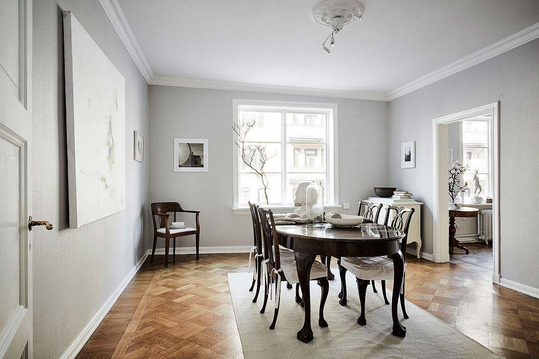 swedish apartment design 8 - Charming 20th Century Apartment