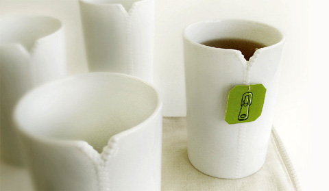 tea cup set zipper - Zipper Cups