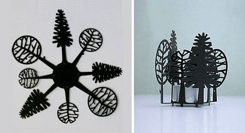tea light holder trees - Tree Lights Treeflections