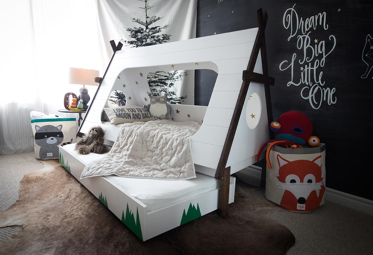 The Most Amazing TeePee Trundle Kids Bed DIY Project!