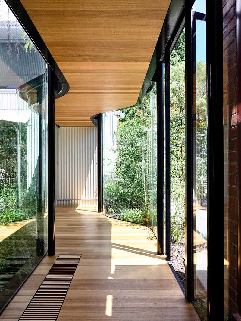 terrace house extension hallway ama - King Bill Residence