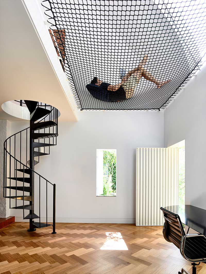 terrace house extension mezzanine ama - King Bill Residence