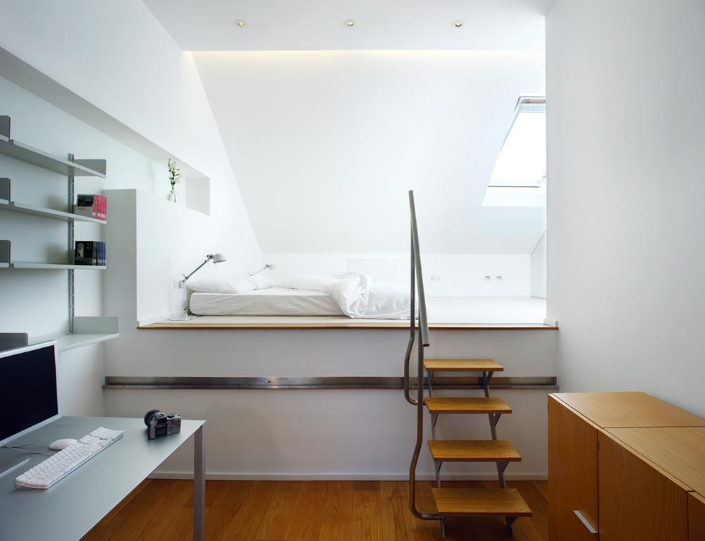 terraced house loft bedroom design tba - Elm Grove Terraced House