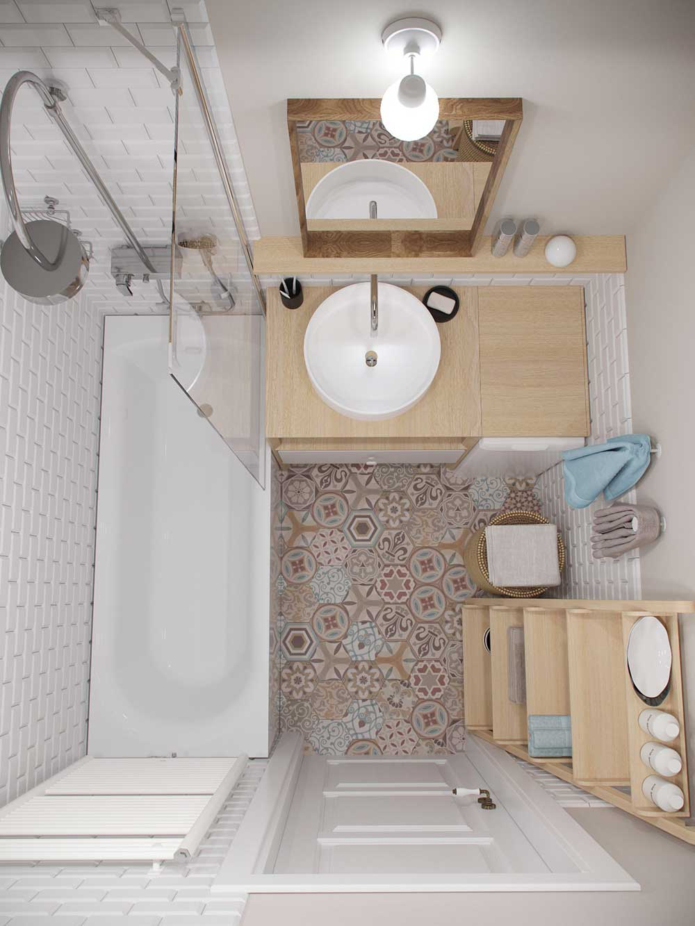 tiny apartment bathroom design jl - Amur Tiny Apartment Design