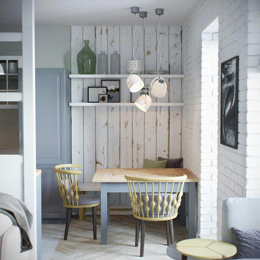 tiny apartment breakfast nook design jl - Amur Tiny Apartment Design