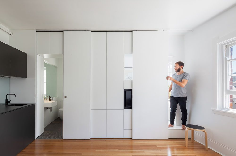 A tiny apartment design full of charm storage in sydney for 35m2 apartment design