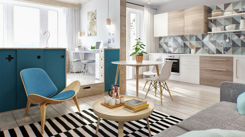 tiny apartment design int2 800x449 - Tiny 40 sq.m. Apartment in Moscow