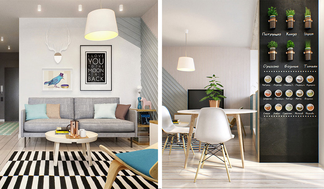 Tiny 40 sq.m. Apartment in Moscow - Small Spaces